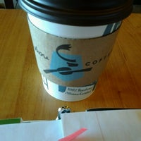 Photo taken at Caribou Coffee by Lauren E. on 3/4/2013