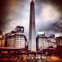 Photo taken at Obelisco - Plaza de la República by Vahap Ö. on 5/3/2013