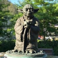 Photo taken at Yoda Statue by Dilek U. on 7/24/2017