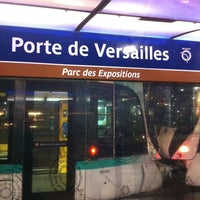 Photo taken at Station Porte de Versailles [T2,T3a] by Ced P. on 12/20/2012