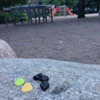 Photo taken at Tehtaanpuisto by Tomi M. on 7/2/2014