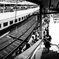 Photo taken at Stasiun Tanah Abang by bayu w. on 2/8/2013