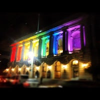 Photo taken at Civic Center Plaza by Deray P. on 9/20/2012