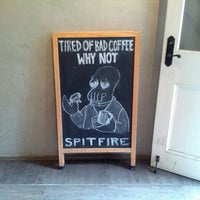 Photo taken at Spitfire Coffee by Shawn R. on 1/6/2014