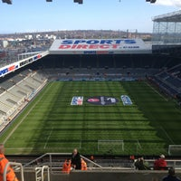 Photo taken at St James' Park by Kate W. on 4/27/2013