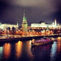 Photo taken at Bolshoy Kamenny Bridge by Irina S. on 11/26/2012