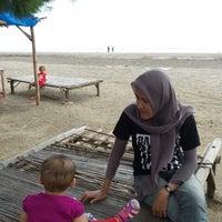 Photo taken at Pantai Pakis Jaya by Riza F. on 4/19/2014