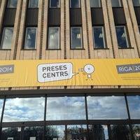 Photo taken at Riga 2014  Headquarter by Gita S. on 4/16/2014