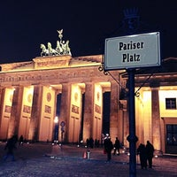 Photo taken at Pariser Platz by Tomas F. on 12/8/2012