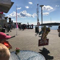 Photo taken at Ångbåtsbryggan Vaxholm by Simon J. on 7/7/2017