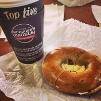 Photo taken at Bruegger's Bagels by Justin S. on 5/10/2014
