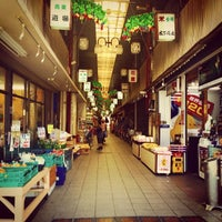 Photo taken at 服部阪急商店街 by kaname k. on 6/19/2014