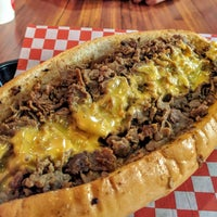Photo taken at ForeFathers Gourmet Cheesesteaks & Fries by Nick B. on 9/16/2017