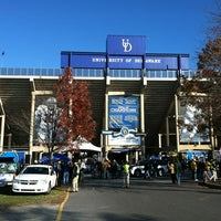 Photo taken at Delaware Stadium by Robbie T. on 11/17/2012