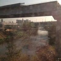 Photo taken at Train Bridge by Cherry Qianyun L. on 8/14/2013
