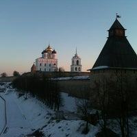 Photo taken at Pskov by Максим Г. on 3/9/2013