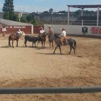 "Photo taken at Lienzo Charro ""Capilla de Guadalupe"" by Kique A. on 2/23/2014"