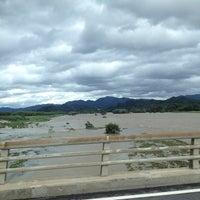 Photo taken at 野洲川大橋 by atsushi k. on 9/16/2013