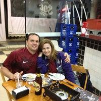 Photo taken at Poderoso Espetâo Sport Clube Corinthians Paulista by Ana L. on 4/24/2013