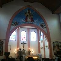 Photo taken at Gereja Katolik Kristus Raja by Viky H. on 6/16/2013