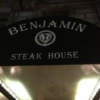 Photo taken at Benjamin Steakhouse by Hiroshi O. on 7/26/2013