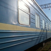 Photo taken at Залізнична станція «Урожайна» by Dmitry F. on 9/29/2013