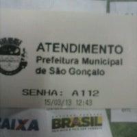 Photo taken at Prefeitura Municipal de São Gonçalo by Marina P. on 3/15/2013