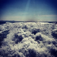 Photo taken at Ferry Boat - Sir baniyas island by Victor K. on 1/24/2014