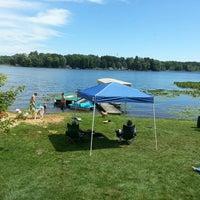 Photo taken at Saddle Lake by Katie C. on 8/3/2013