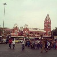 Photo taken at Chennai Central Sub Urban Station by Deva R. on 10/20/2012