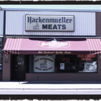 Photo taken at Hackenmueller's Meat Market by Joel Y. on 7/24/2013