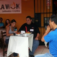 Photo taken at La Wok Salteados Criollos by Fernando S. on 3/5/2013