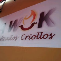 Photo taken at La Wok Salteados Criollos by Fernando S. on 1/16/2013