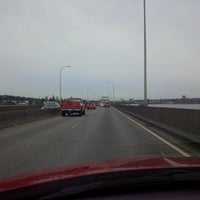 Photo taken at Evergreen Point Floating Bridge by Christoph M. on 3/23/2013