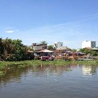 Photo taken at Phà An Phú Đông by Huynh B. on 2/14/2013