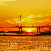 Photo taken at Yokohama Bay Bridge by mimi Y. on 9/17/2013