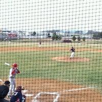 Photo taken at Liberty Christian Baseball Field by Amber S. on 3/15/2013