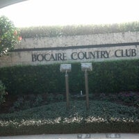 Photo taken at Bocaire Country Club by Tom M. on 1/25/2013
