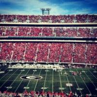 Photo taken at Sanford Stadium by Clayton T. on 11/24/2012
