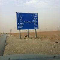 Photo taken at باقي على الاحساء143كم by Nabil نبيل A. on 3/28/2013