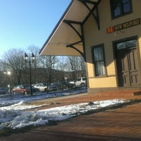 Photo taken at New Milford Train Station by Heather C. on 1/19/2013