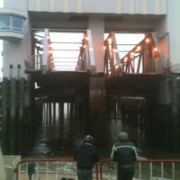 Photo taken at Woolwich Ferry by paul m. on 10/23/2012