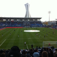 Photo taken at Stade Saputo by Isabelle C. on 10/27/2012
