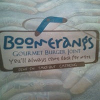 Photo taken at Boomerangs Gourmet Burger Joint by Henry J. on 12/22/2012