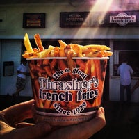 Photo taken at Thrasher's French Fries by David A. on 7/13/2013