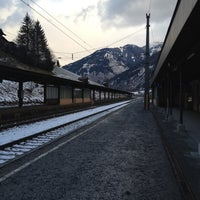 Photo taken at Bahnhof Bad Hofgastein by Александр Ф. on 1/11/2013