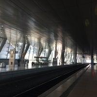 Photo taken at Frankfurt Airport Int'l Railway Station by Shari on 4/23/2014