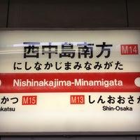 Photo taken at Nishinakajima-Minamigata Station (M14) by Lasakongawa on 11/24/2012