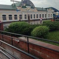 Photo taken at Бобруйск Пассажирский / Bobruysk Railway Station by Roman S. on 10/28/2013