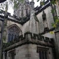 Photo taken at Manchester Cathedral by Aline F. on 10/25/2012